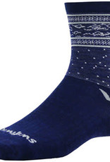 Swiftwick Swiftwick Vision Five Flurry Socks - 5 inch, Navy/Gray, Small