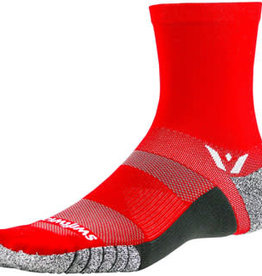 Swiftwick Swiftwick Flite XT Five Socks - 5 inch, Red, Small