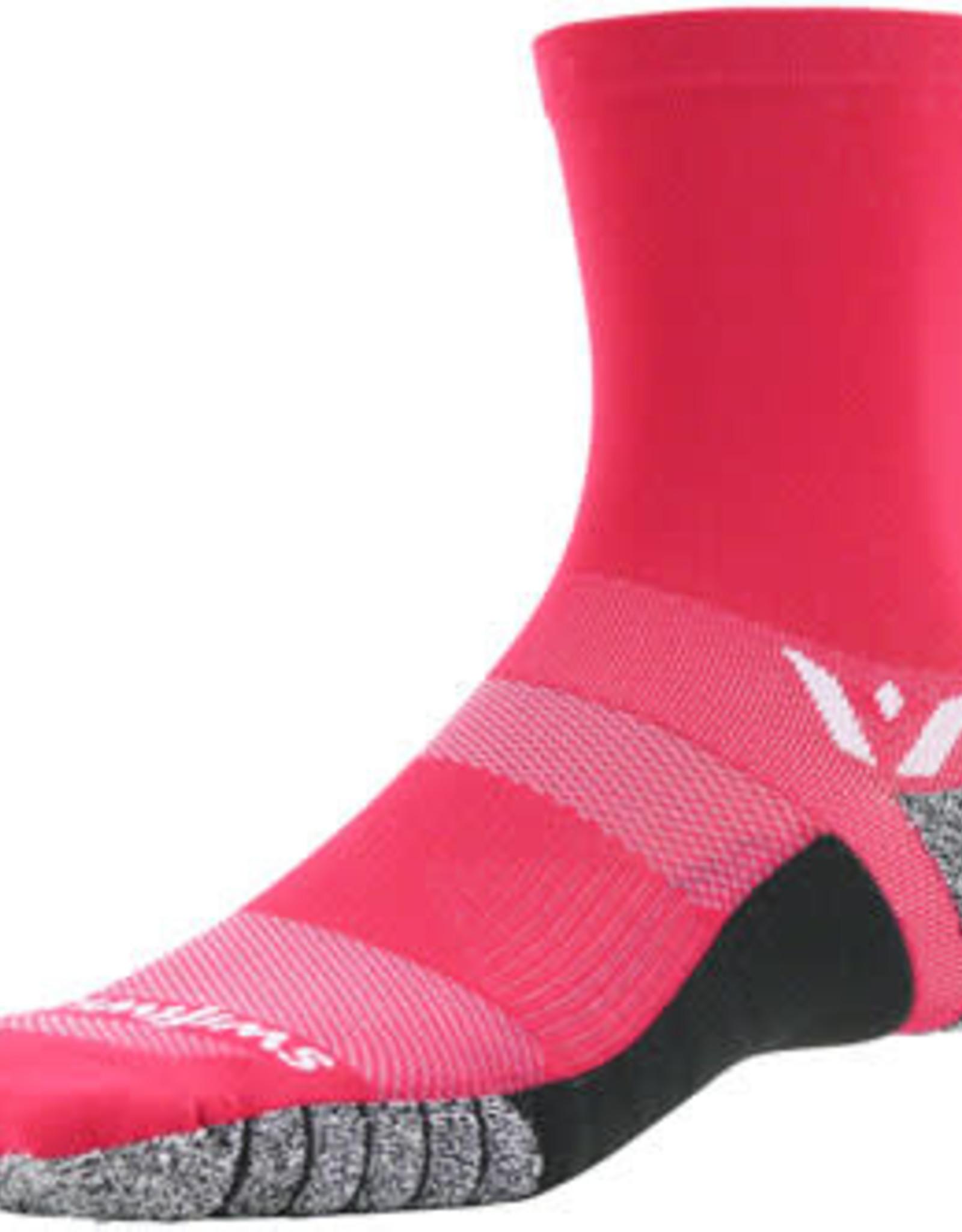 Swiftwick Swiftwick Flite XT Five Socks - 5 inch, Pink, Large