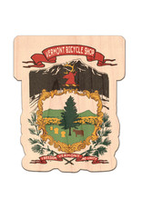 Vermont Bicycle Shop Vermont Bicycle Shop State Seal Camel's Hump Wood Sticker