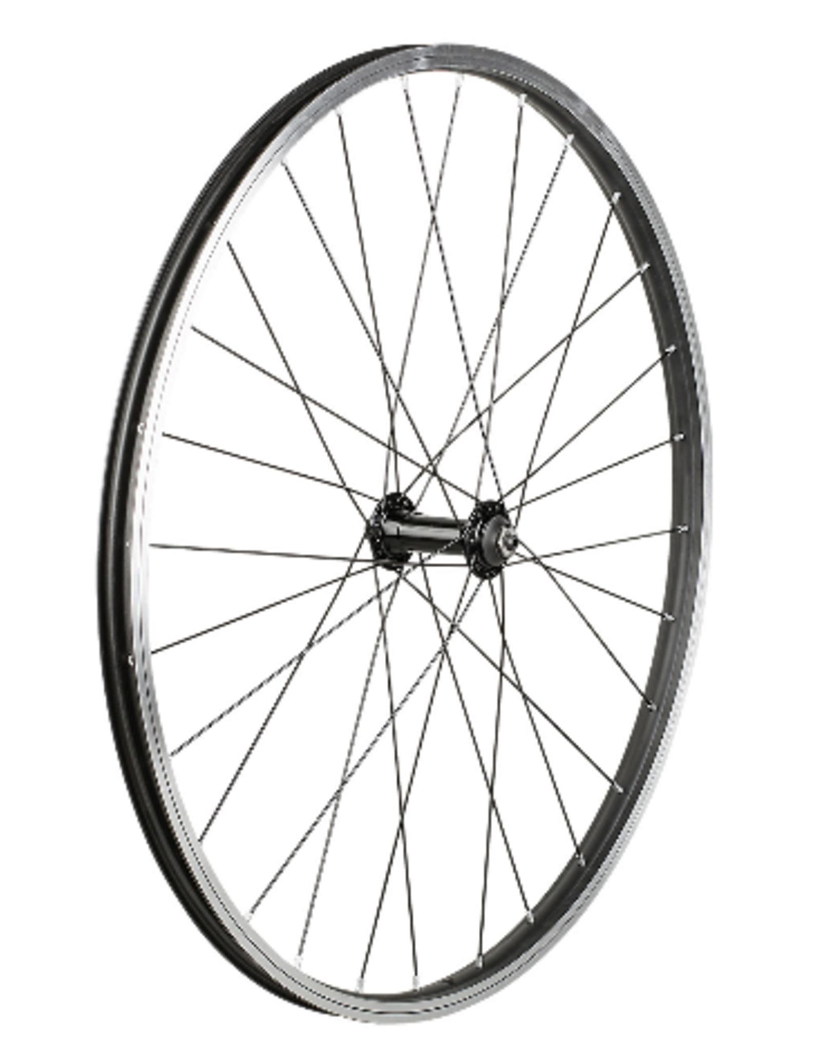 trek Trek Black Rim Brake 26 28H Single Wall QR Front Wheel