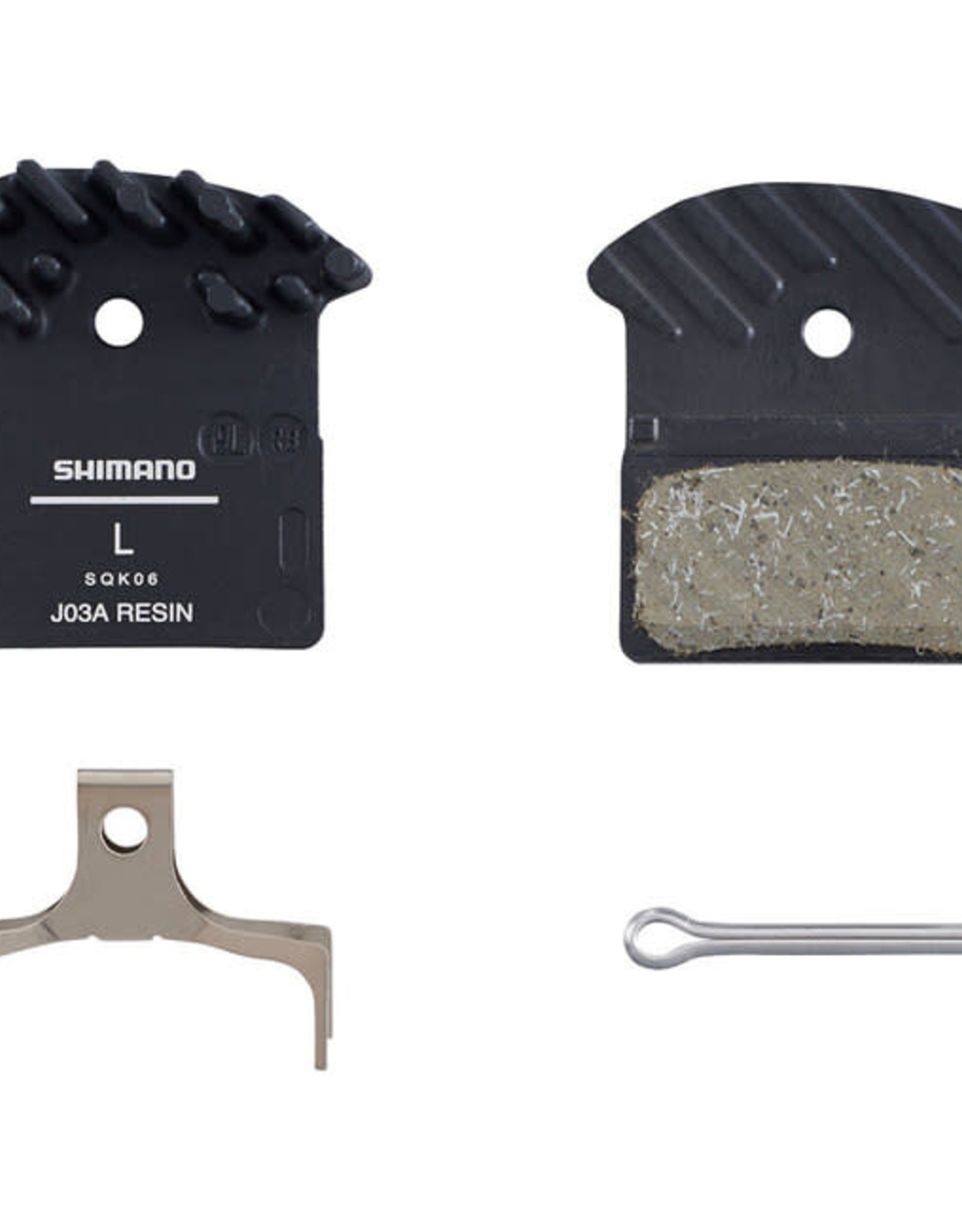 Shimano J03A RESIN PAD & SPRING WITH FIN  25 PAIRS (BULK) single