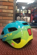 Lazer Lazer Gekko Lighted Youth Uni-Size 50-56cm Blue Helmet w/ Rechargeable Rear Light