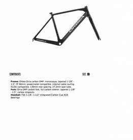Vermont Bicycle Shop Orca OMP 55cm Frameset and MyO Paint