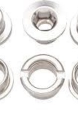 Problem Solvers Problem Solvers Chainring Bolt Set for Single Ring Silver Chromoly