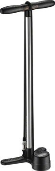 Lezyne Digital Shock Floor Pump, Alloy/Steel Piston, Wood Handle, Nylon Braided Hose, 300 psi, Silver