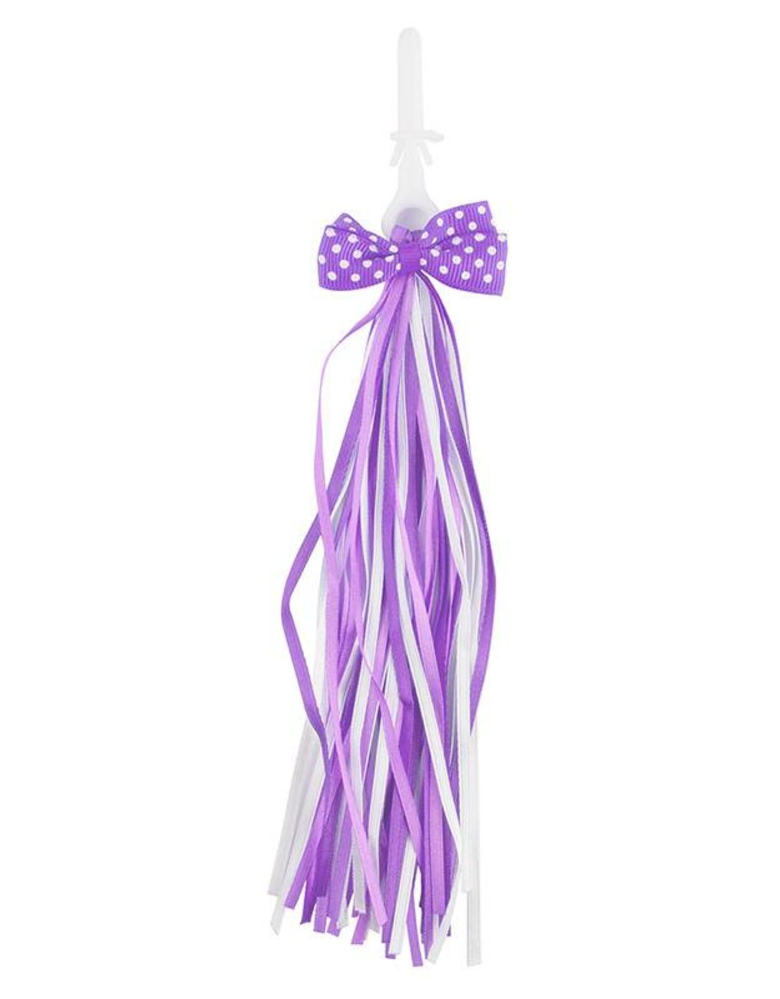 Streamer Satin Bow Purple