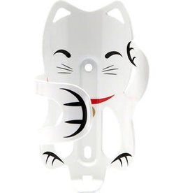 PDW Portland Design Works Lucky Cat Water Bottle Cage: White Cat