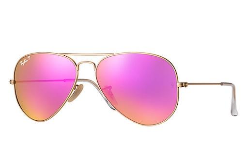 2d0f1b5ee4 ... polarized sunglasses sunglass hut usa 41521 f6730  coupon for rayban  ray ban aviator large metal matte gold cyclamen flash 782b2 fe4d3
