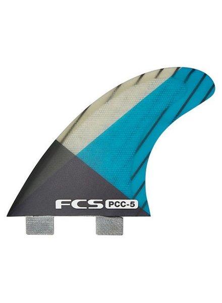 FCS FCS PCC 5 TRI FINS BLU/SMOKE MEDIUM