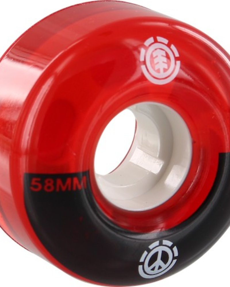 EL PEACE FILMER 58MM WHEELS RED/BLK/WHT