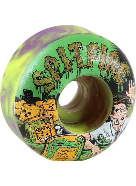 SF F4 99A CLASSIC 52MM WHEELS TOXIC PUR/GRN