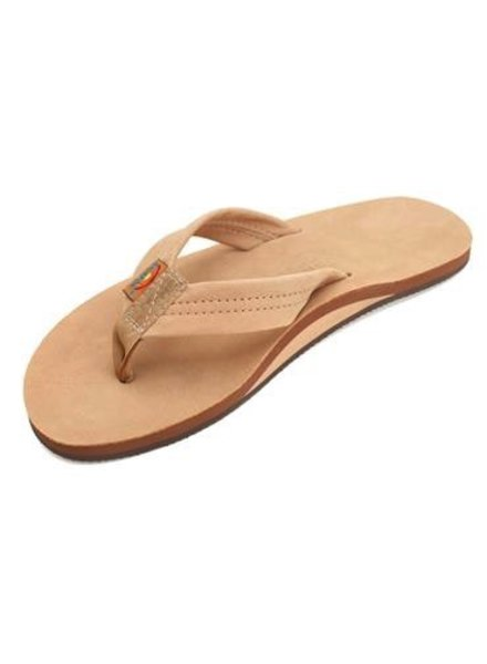 RAINBOW RAINBOW LEATHER SINGLE LAYER ARCH MENS SANDALS