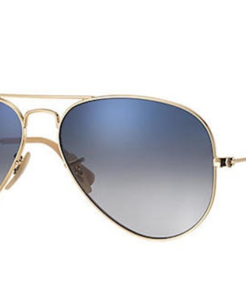 rayban RAY BAN AVIATOR LARGE METAL GOLD W/ GRADIENT BLU PLR