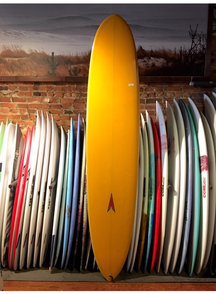USED 9FT DAVE SWEET YELLOW LONGBOARD
