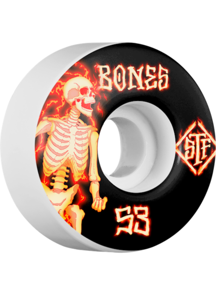 BONES STF V1 BLAZERS 53MM WHT WHEELS