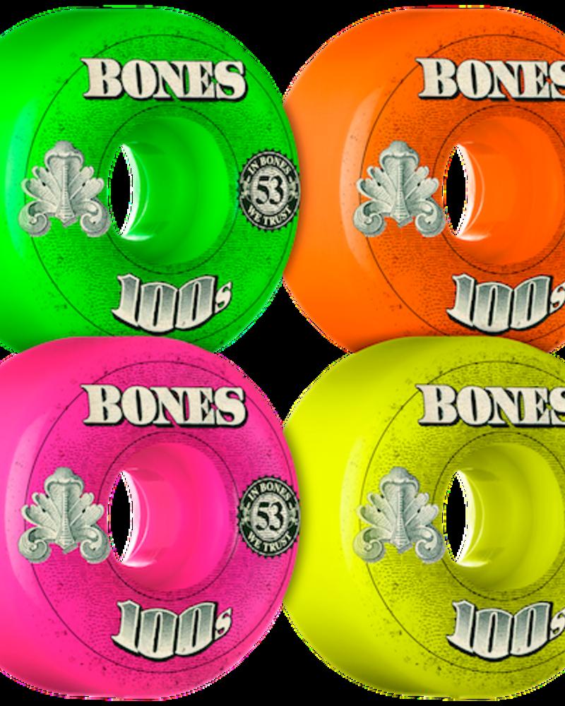 BONES 100S OG#3 V1 53MM AST MIX MONEY LOGO WHEELS