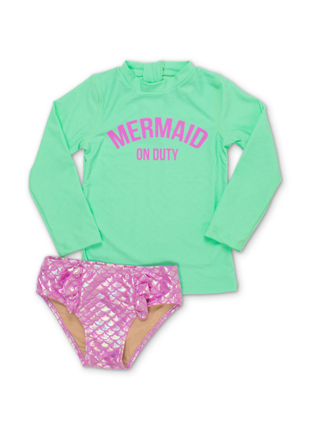 SHADE CRITTERS SHADY CREATURES MERMAID ON DUTY RASH SET