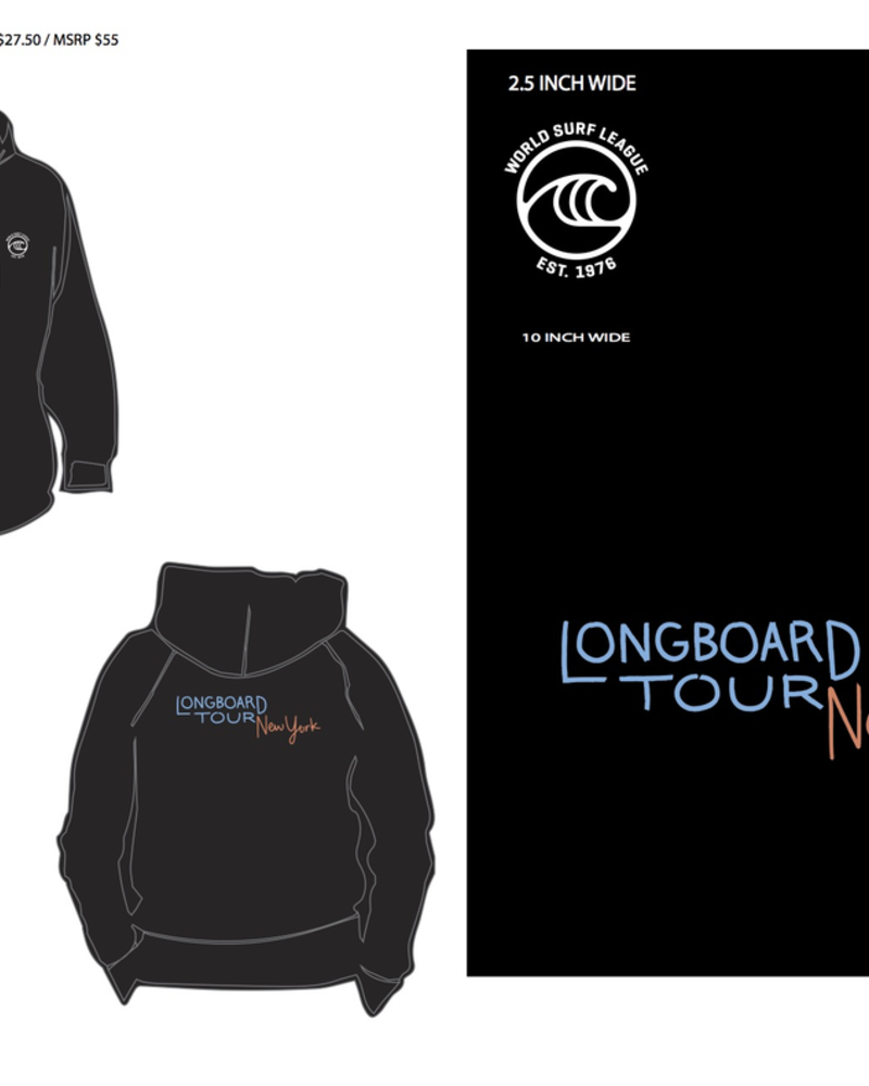 WSL WSL NEW YORK LONGBOARD TOUR MENS HOODY