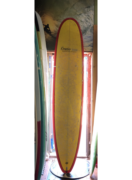 USED 9'6 CREATIVE DESIGN WITH FINS LEASH AND BAG