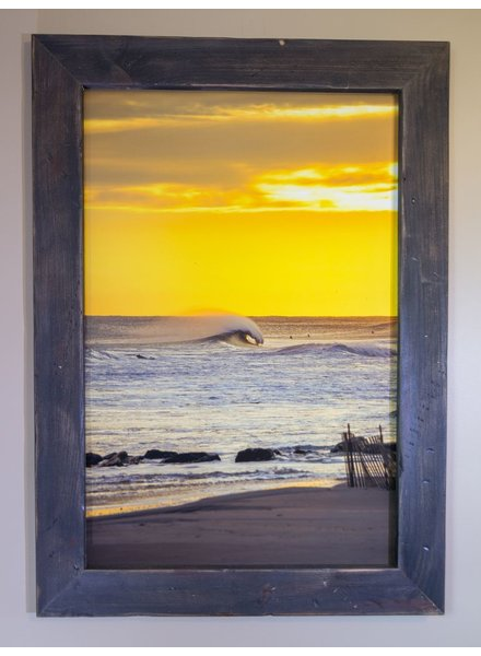 24 X 36 LIDO BEACH NEW YORK PHOTO IN RECLAIMED WOOD FRAME