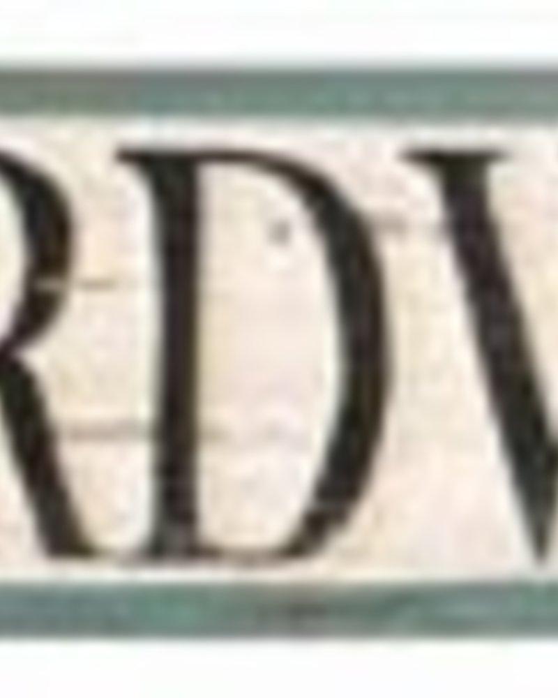 AGED BOARDWALK ARROW SIGN