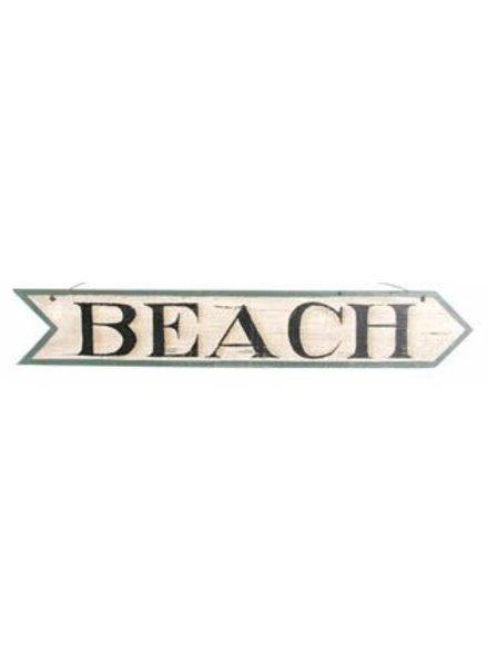 AGED BEACH ARROW SIGN