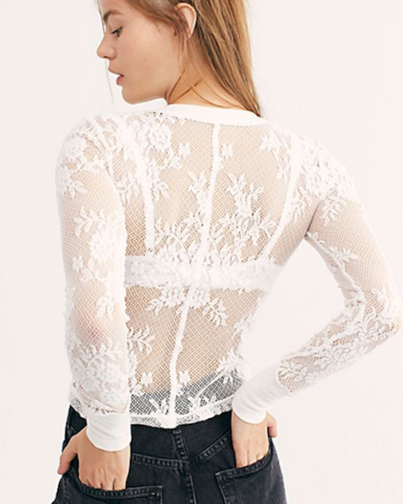 FREE PEOPLE FREE PEOPLE COOL WITH IT LAYERING TOP