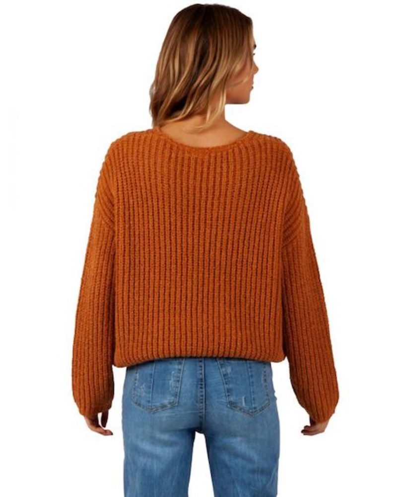 RIP CURL RIP CURL WOVEN VNECK SWEATER