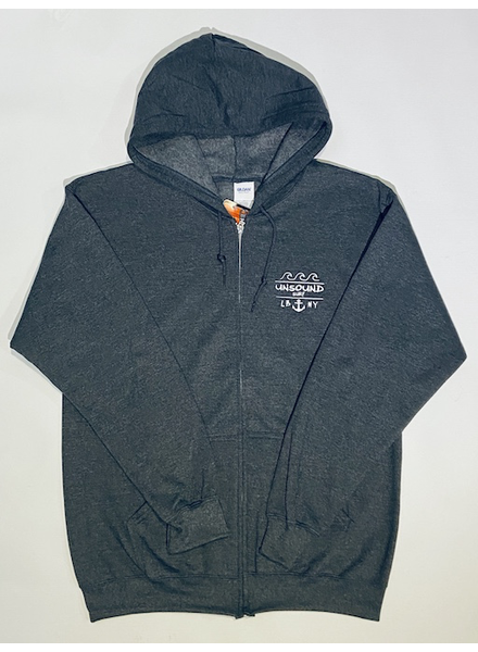 UNSOUND SURF UNSOUND SURF LBNY ANCHOR ZIP HOODY