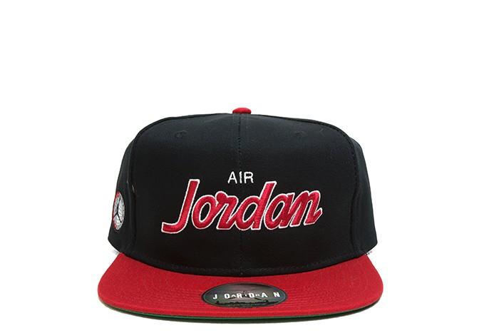Jordan JORDAN PRO SCRIPT CAP BLACK RED