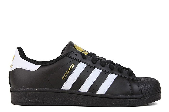 Adidas SUPERSTAR FOUNDATION MENS BLACK WHITE