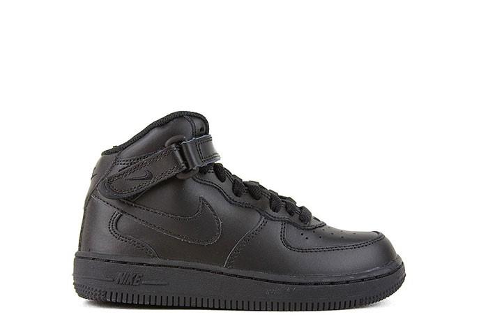 Nike NIKE FORCE 1 MID PS TRIPLE BLACK