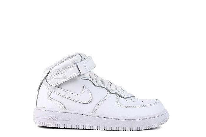 Nike NIKE FORCE 1 MID PS TRIPLE WHITE