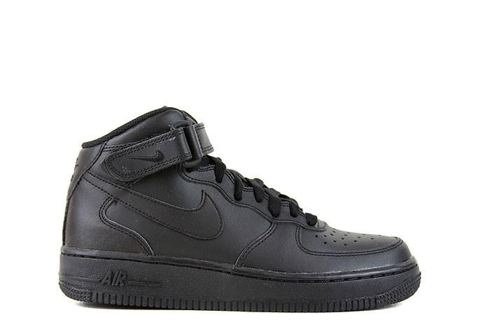 Nike NIKE AIR FORCE 1 MID GS TRIPLE BLACK