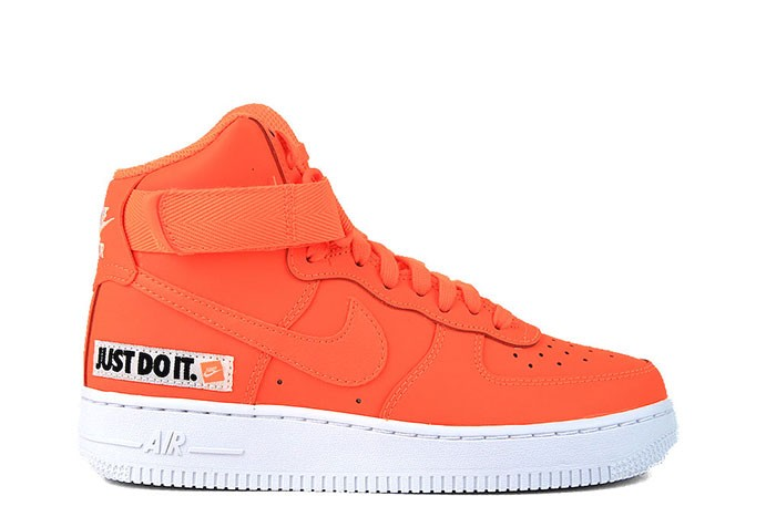 Nike NIKE WMNS AIR FORCE 1 HI LX LTHR TOTAL ORANGE