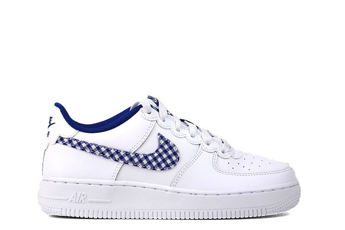 Nike AIR FORCE 1 QS GS GINGHAM