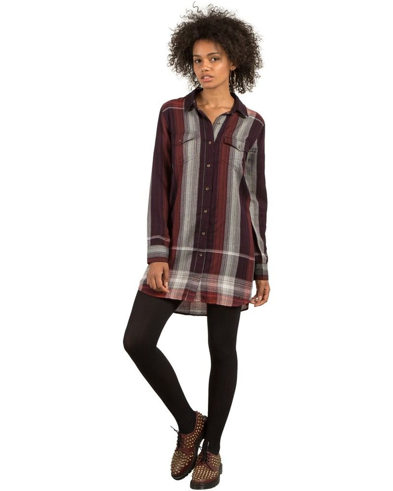 VOLCOM Volcom Well Plaid Dress