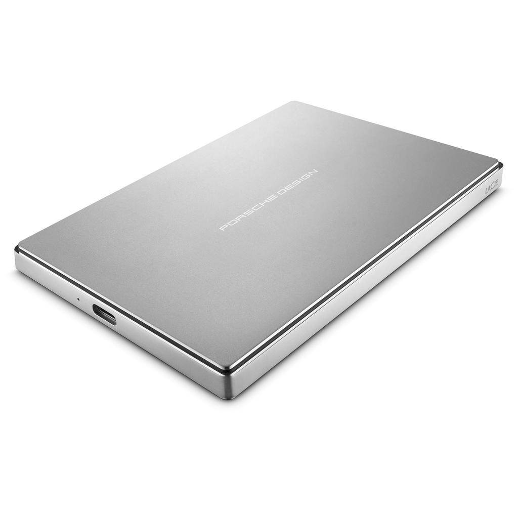 Lacie Lacie 2TB Porsche Design USB-C 3.0 Portable Hard Drive - Silver