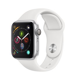 Apple Apple Watch Series 4 GPS, 40mm Silver Aluminium Case with White Sport Band