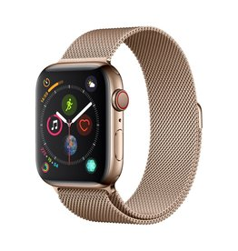 Apple Apple Watch Series 4 GPS + Cellular - 44mm - Gold Stainless Steel Case with Gold Milanese Loop
