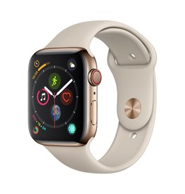 Apple Apple Watch Series 4 GPS + Cellular - 44mm - Gold Stainless Steel Case with Stone Sport Band