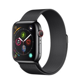Apple Apple Watch Series 4 GPS + Cellular - 44mm - Space Black Stainless Steel Case with Space Black Milanese Loop