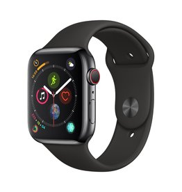 Apple Apple Watch Series 4 GPS + Cellular - 44mm - Space Black Stainless Steel Case with Black Sport Band