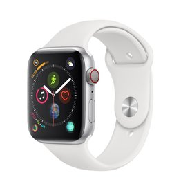 Apple Apple Watch Series 4 GPS + Cellular - 44mm - Silver Aluminium Case with White Sport Band