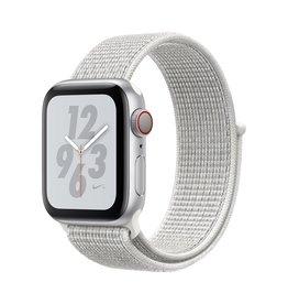 Apple Apple Watch Nike+ Series 4 GPS + Cellular - 40mm - Silver Aluminium Case with Summit White Nike Sport Loop