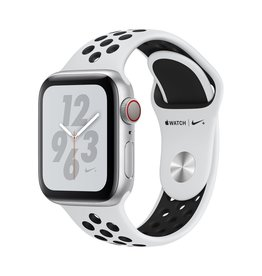 Apple Apple Watch Nike+ Series 4 GPS + Cellular - 40mm - Silver Aluminium Case with Pure Platinum/Black Nike Sport Band