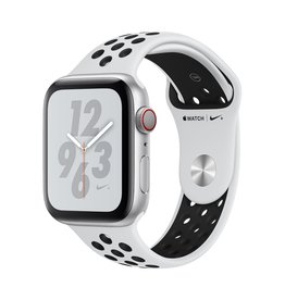 Apple Apple Watch Nike+ Series 4 GPS + Cellular - 44mm - Silver Aluminium Case with Pure Platinum/Black Nike Sport Band