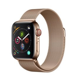 Apple Apple Watch Series 4 GPS + Cellular - 40mm - Gold Stainless Steel Case with Gold Milanese Loop
