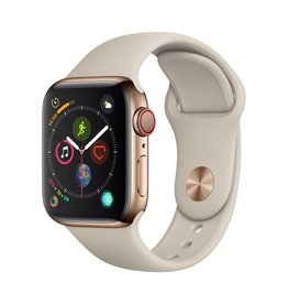 Apple Apple Watch Series 4 GPS + Cellular - 40mm - Gold Stainless Steel Case with Stone Sport Band